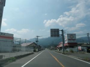 国見山へ続く道