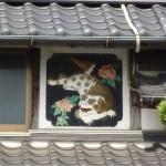 勝浦集落の鏝絵(こてえ)